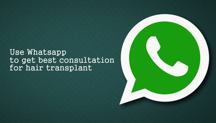 Use Whatsapp to get best consultation for hair transplant in Ahmedabad